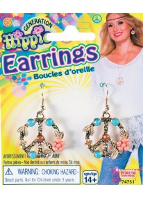 Hippie Peace Sign Earrings