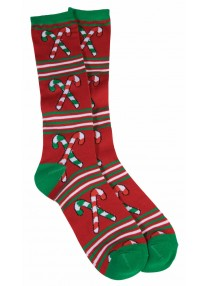 Ugly Christmas Knee Socks Candy Cane