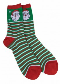 Ugly Christmas Ankle Socks Santa