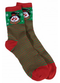Ugly Christmas Ankle Socks Snowman