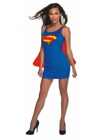 Supergirl Tank Dress Adult Costume