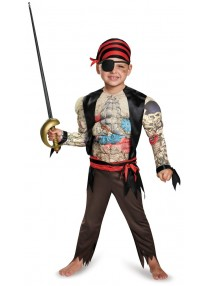 Pirate Muscled Toddler Costume