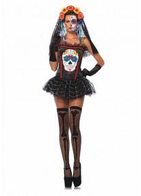 Sugar Skull Bustier Costume