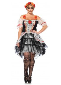 Sugar Skull Senorita Plus Size Costume