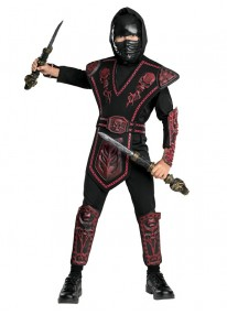 Red Skull Warrior Ninja Costume