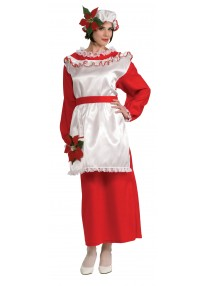 Mrs. Poinsetta Claus Costume