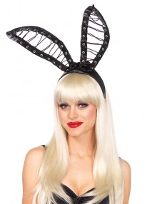 Satin Lace Up Bunny Ears