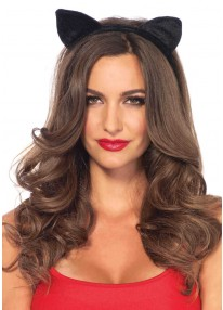 Velvet Balck Cat Ears