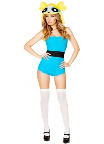 Blue Anime Girl Costume