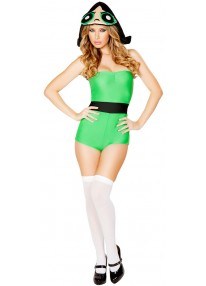Green Anime Girl Costume