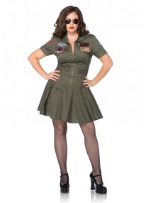 Top Gun Flight Dress Plus Size Costume