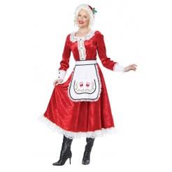 Classic Mrs Claus Adult Costume