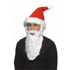 Plush Santa Hat w/Beard