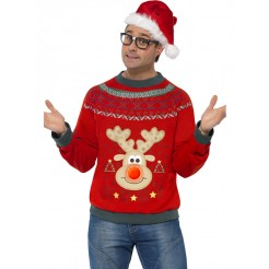 Reindeer Christmas Light Up Jumper
