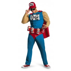 Duffman Muscle Classic Costume