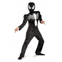 Ultimate Black Suited Spiderman Costume