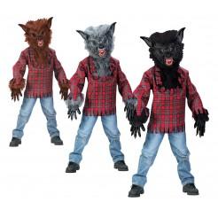Grey Child Werewolf Costume