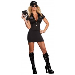 FBI Agent Mia Babe Costume