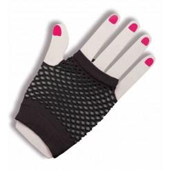 Short Fishnet Fingerless Gloves Black