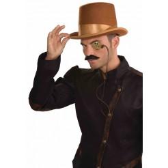 Steampunk Bell Topper Hat Brown