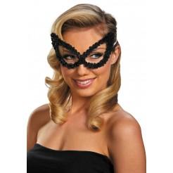 Sequin Eye Mask-Black