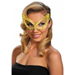Sequin Eye Mask-Gold