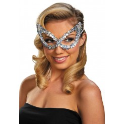 Sequin Eye Mask-Silver