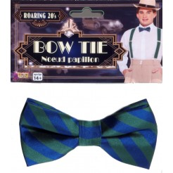 Striped Bowtie Green And Blue