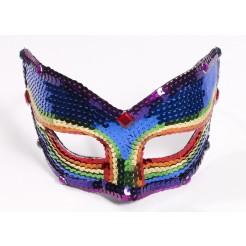 Rainbow Sequin Eyeglass Mask