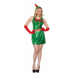 Sequin Elf Dress Costume