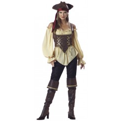 Deluxe Rustic Pirate Lady Costume