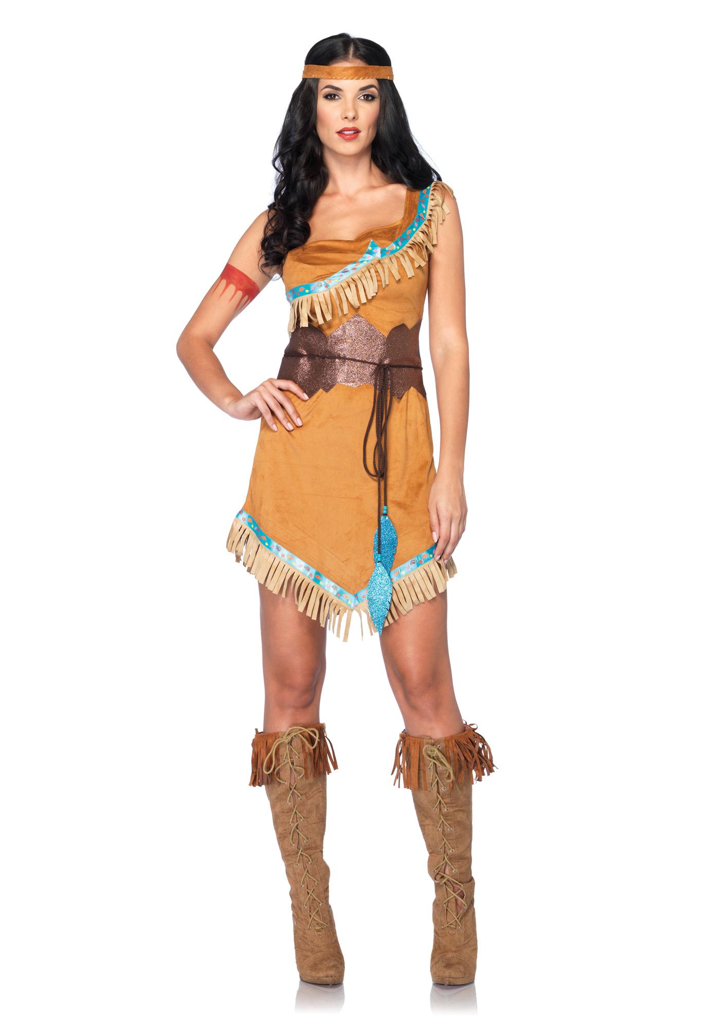 Picture 1 of 1  sc 1 st  eBay & Pocahontas M/l Leg Avenue Disney Native American Princess Costume   eBay